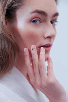 Negative space: this season's biggest nail trend. #nailart #manicure #nyfw