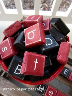 This would be fun for outside/porch scrabble in the summer.
