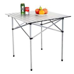 Garden Portable Roll Up Table Aluminum Folding Camping Picnic Table w/Bag NEW #1