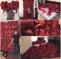 Paper flower wall for wedding