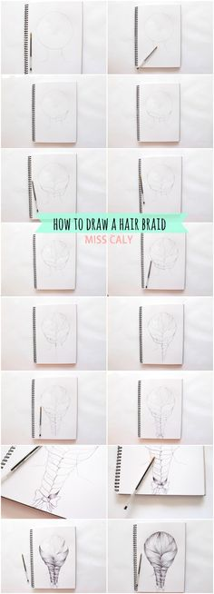 A step by step tutorial on how to draw a hair braid - By Miss Caly