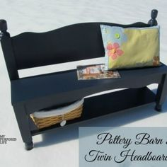 http://www.myrepurposedlife.com/2014/02/twin-headboard-bench-storage-shelf.html
