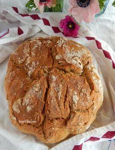 Ψωμί ολικής αλέσεως με δεντρολίβανο χωρίς ζύμωμα http://pepiskitchen.blogspot.gr/2014/05/psomi-olikis-aleseos-me-dendrolivano-choris-zymoma.html