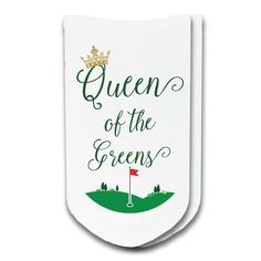 Golf Ladies Tips Queen of the Greens! Our ladies golf socks make a great addition to your golf wardrobe and they are great gifts too! Socks are sold by the pair and are available in white. Ask us about discount quanti Best Golf Clubs, Best Golf Courses, Golf Mk4, Golf Socks, Golf Etiquette, Golf Videos, Thing 1, Golf Quotes, Humor Quotes