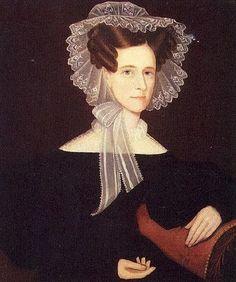 Ammi Phillips (American artist, 1788-1865) Lady in Pink RibbonsHannah Bull Thompson..#folk artist