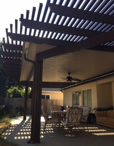 Five Star Home Improvement - Sacramento, CA, United States. Aluminum patio cover solid roof and open lattice combination