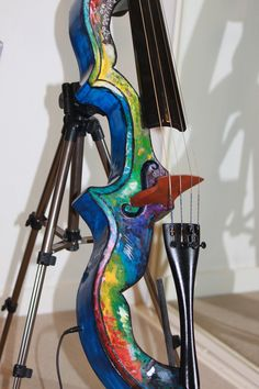 If you are going to play an instrument, make it look like a modern sculpture instead of an instrument. It makes you look more pretentious-I mean, more like an artist.