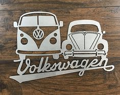 Signs, stickers, banners, canvas prints and more! by ZUGMONSTER Metal Walls, Metal Wall Art, Kombi Pick Up, Combi Ww, Steel Supply, Cnc Plasma, Vintage Bottles, Scroll Saw Patterns, Vw T1