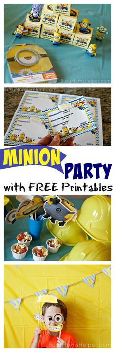 Minion Party with Free Printables