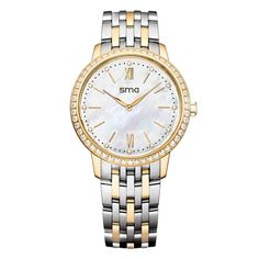 SMA Star Sign Women's Smart Waterproof Crystal Quartz Watch with Metal Band Bluetooth 4.0 LED for iPhone  Andriod Smartphone Synchronous Incoming Call Sedentary Reminder