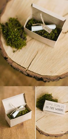 DIY woodland party invitation