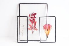 Handmade glass framed herbariums with real dried flowers. You can stand it on the shelf, and it would became beautiful and unique part of your interior.
