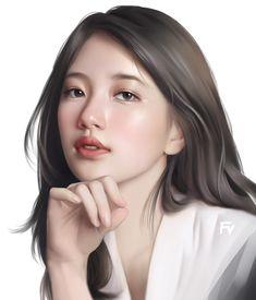 Bae Suzy, Just Girl Things, Colorful Drawings, Kpop Girls, Women, Sketch Art, Anime Art, Fanart, Artwork