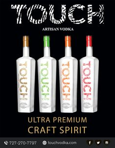 High quality spirits from locally sourced Florida ingredients, 4 great flavors: Artisan Vodka, Florida Ruby Red Grapefruit, Florida Key Lime & Florida Valencia Orange