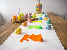DIY table runner, bunny runner, easter table decoration, easter, DIY runner, Hasen tischläufer, ostern, tavşan masa örtüsü, paskalya