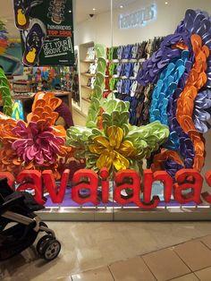 Havainas Gigantic Colorful Store Front | Window Displays
