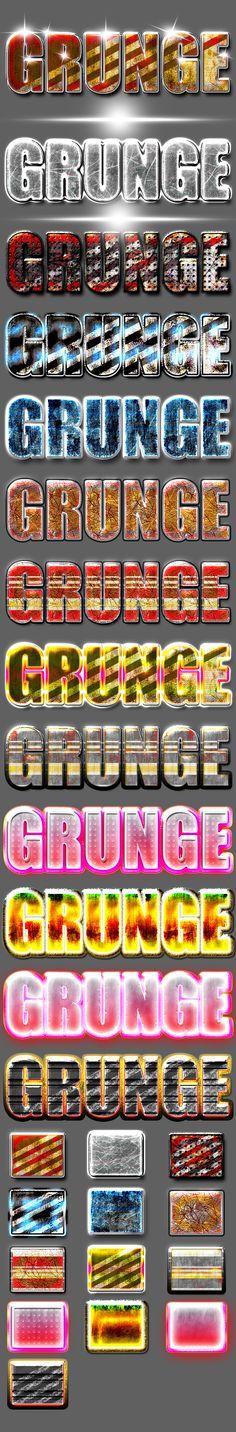 13 Grunge Layer Styles