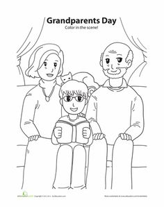 Worksheets: Grandparents Day Coloring Grandparents Day Activities, Giraffe Coloring Pages, International Literacy Day, Sunday School Coloring Pages, Valentines Day Coloring Page, Beginning Of The School Year, Crafty Kids, Parents As Teachers, Grandparent Gifts