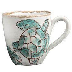 Sea Turtle Mug from Vietri.