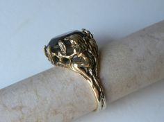 Antique Ring Art Nouveau Topaz Nude Maiden Ring Fine Jewelry  O M G I LOVE THIS