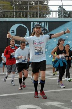 Musician James Valentine of Maroon 5 completed the 2012 LA Marathon in on behalf of Team Pablove Matt Flynn, James Valentine, One More Night, Adam Levine, Maroon 5, Marathon, Singing, Stars, Celebrities