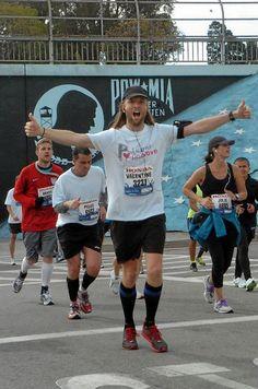 Musician James Valentine of Maroon 5 completed the 2012 LA Marathon in 4:09:05 on behalf of Team Pablove