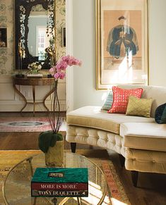 Chinoiserie + Foyer and Living Room + Barrie Benson