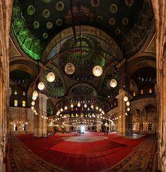 Inside Mohamed Ali's Mosque , Citadel from Salah Eddine EI Ayyoubi (Saladin), Cairo, Egypt.