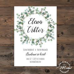 Svatební oznámení - TYP 166 Wedding Card Design, Wedding Cards, Wedding Invitations, Stationery, Wedding Inspiration, Weddings, Paper, Creative, Wedding Ecards