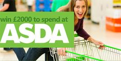 Win to spend at Asda Shopping Vouchers, Asda, Free Food, Drink, Beverage, Drinking