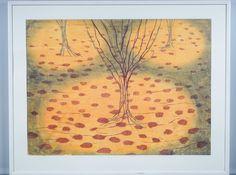 Outi Kirves: Riisuutuneet, 1998,  puupiirros, 72x97 cm, edition 17/20 - Huutokauppa Helander 09/2015 Finland, Vintage World Maps, Painting, Art, Art Background, Painting Art, Kunst, Paintings, Performing Arts