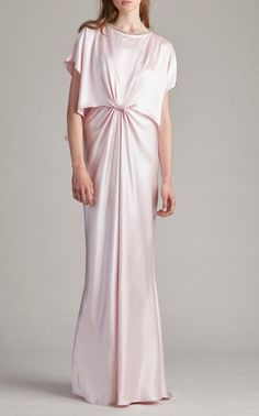Knot Front Draped Gown by Monique Lhuillier
