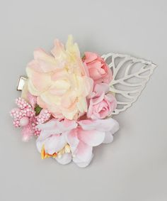 Loving this Pink Flower Hair Clip - Girls on #zulily! #zulilyfinds