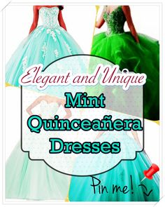 Mint Quinceanera gown - One of the most crucial planning steps for a Quinceanera party, if not the most crucial one, is the number of the Quinceanera dress. Mint Quinceanera Dresses, Quinceanera Party, Cute Dresses, Formal Dresses, Quince Dresses, Young Female, Ball Gowns, Dress Up, Fancy