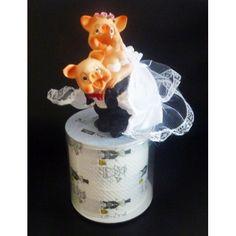 sehr originelles Geldgeschenk mit Hochzeitspaar Glücksschwein