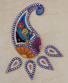 bordado en pedreria hindu - Buscar con Google Paisley Art, Paisley Design, Paisley Pattern, Hand Embroidery Dress, Hand Embroidery Designs, Embroidery Patterns, Bead Embroidery Jewelry, Beaded Embroidery, Embroidery Stitches