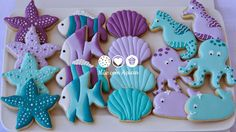 Unther the sea sugar cookies
