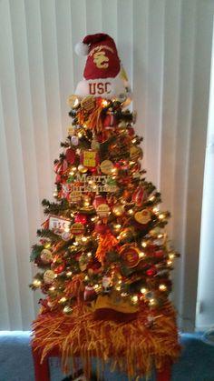 USC Trojans Football BBQ Tailgate Grill Christmas Ornament