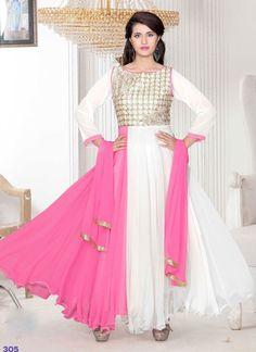 714ca5751c5 Exclusive Colour Combination Anarkali suit Party Wear Dresses