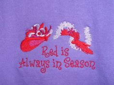 Red Hat Society Purple Short Sleeve T-shirt - Red Is Always in Season - Size L Red Hat Club, Purple Shorts, Purple Dress, Red Hat Ladies, Red Hat Society, Pink Hat, Red Hats, Cool Cards, Red Purple