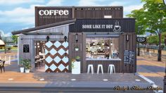 Sims4 Container Coffee Shop - Ruby's Home Design                                                                                                                                                                                 More