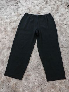 228$ EILEEN FISHER sz 1X BLACK STRETCH SILK WIDE LUXE TROUSER PANTS #EileenFisher #ANY