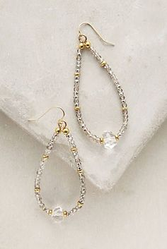 Crystal Teardrop Hoops #diyjewelry