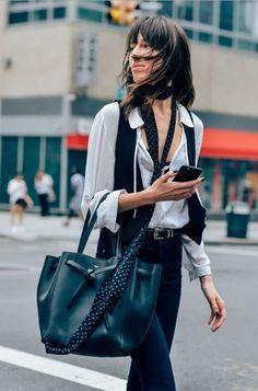 Уличная мода: 15 образов с недель моды в Нью-Йорке и Лондоне - Я Покупаю