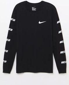 New Nike Mens SB Big Futura Black Long Sleeve Graphic Athletic Cut Tee T- Shirt 9de50ca23c