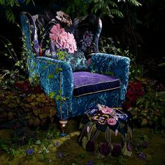 Funky Furniture, Painted Furniture, Unusual Furniture, Furniture Ideas, Asian Furniture, Furniture Makeover, Wingback Chair, Armchair, Mackenzie Childs Furniture