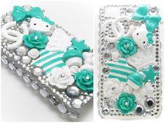 Mint Hello Kitty Decoden iPhone Case by dimeycakes.deviantart.com