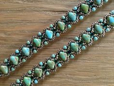 JoMy Creations: 2 armbanden met Silky Beads, patroon Sophia Silky Bracelet van Craftyinspirationbylinda.