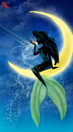 Ariel by the moonlight
