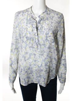 REBECCA TAYLOR Multi-Colored Silk Floral Print Long Sleeve Blouse Sz 4 #REBECCATAYLOR #Blouse #Casual was $279 now $39 from this season wow